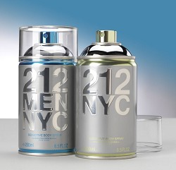 Embossed Carolina Herrera aerosol can